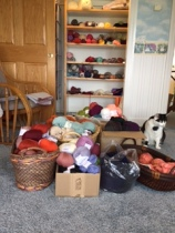 Boxes and 1 closet of yarn that was on sale