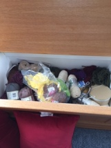 2nd drawer of left over yarn